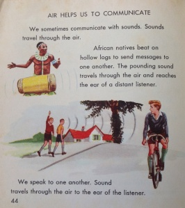 Examples of how air helps us to communicate, from 'What is Air?' (Collins, 1963).