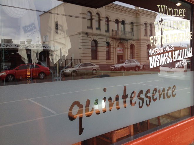 A restaurant called quintessence in south-eastern Australia.