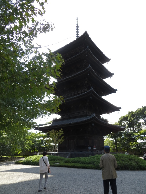 A 5 element pagoda at the Toji Temple, Kyoto, Japan