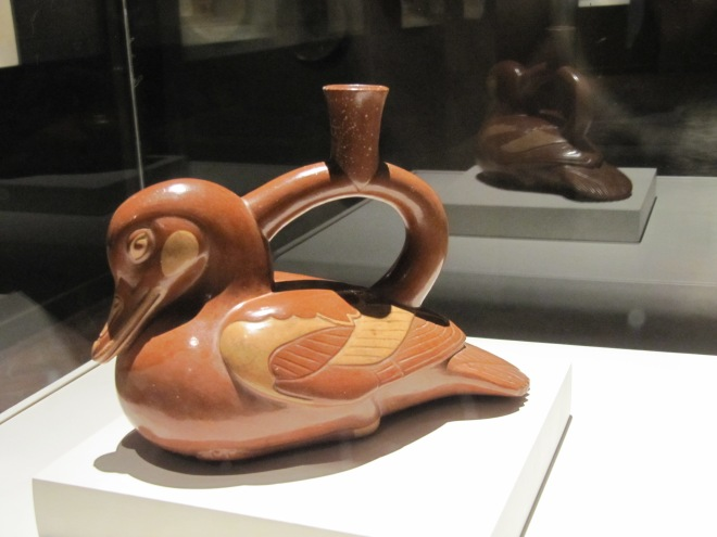 A Moche representation of a duck, Larco Museum, Cusco, Peru