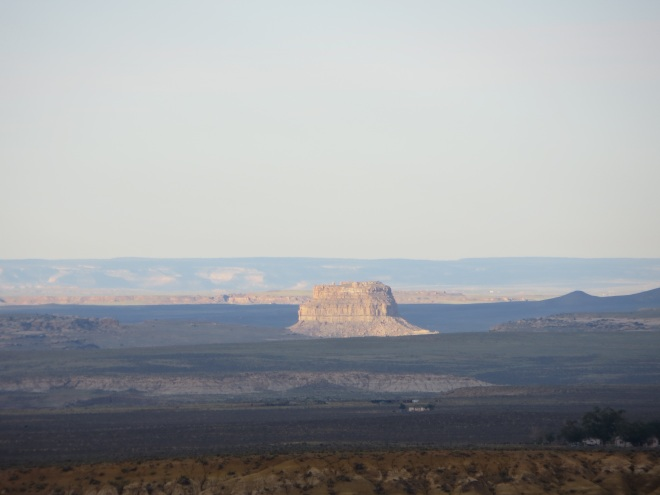Fajada Butte at the entrance to Chaco Canyon, an important Native American site in New Mexico, USA