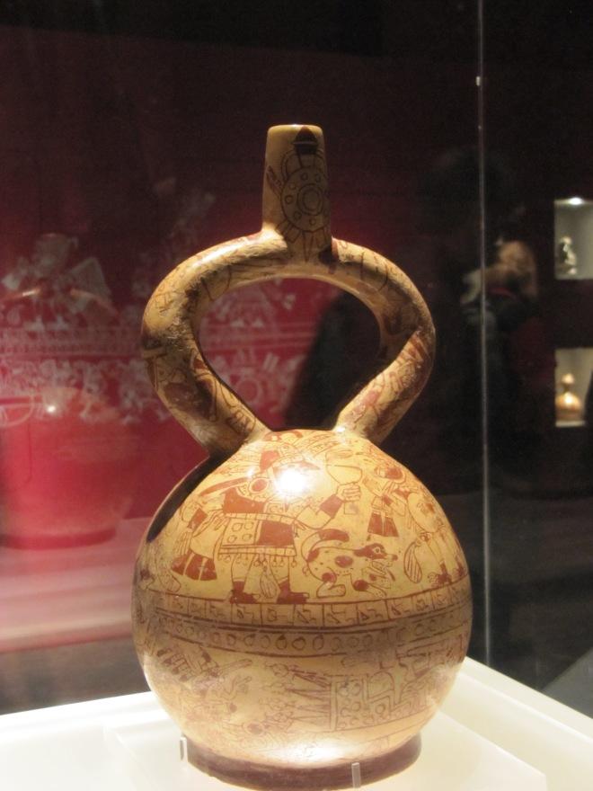 Moche fine-line pottery, Larco Museum, Lima