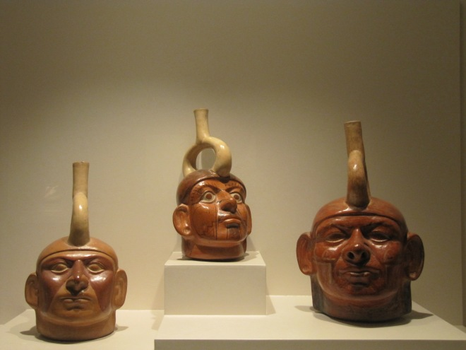 Moche portraits, Larco Museum, Cusco, Peru