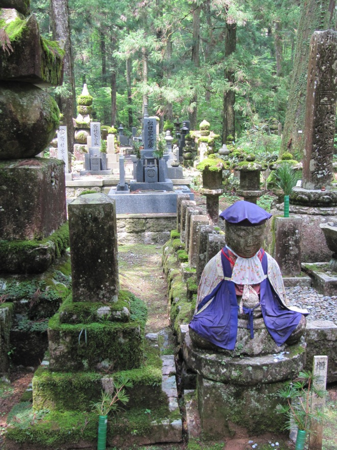 Sacred Koyosan, a place of stone and towering forests - the home of the Shingon Buddhist Sect and the six elements, Japan