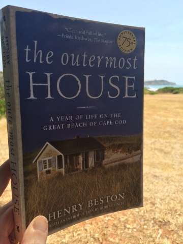 What better place to read 'The Outermost House' than within sight and sound of the sea.