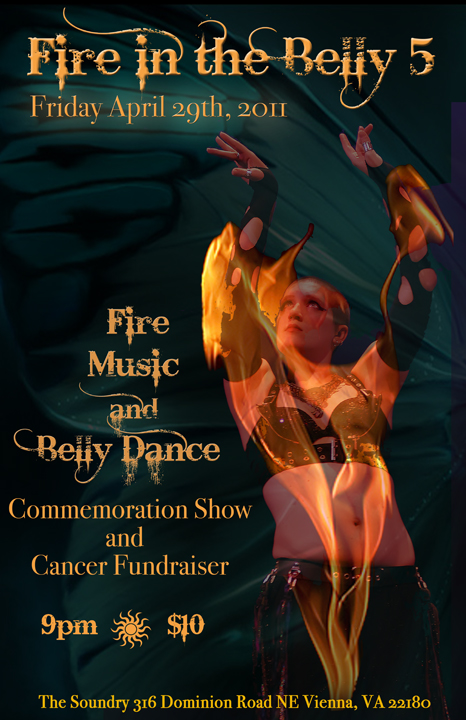 This was my favourite on-line image of the many available for the expression 'Fire in the belly'. The show was a fundraiser for a performer suffering from cancer.