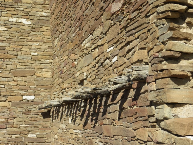 Local stone and wood were used to build the large complex of buildings in Chaco Canyon, Arizona