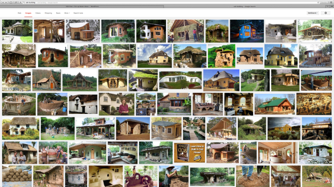 Cob buildings are having a renaissance in the west, as shown by this Google Screen Shot.