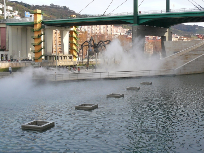 Fire fountain Bilbao