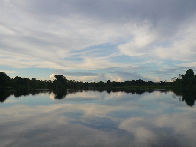 Reflections on the Itenez River, which marks the border with Brazil.
