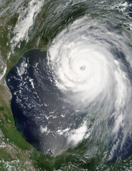 Hurricane Katrina, the day before land-fall in New Orleans. An elemental expression of great power and energy. Source Wikipedia, who sourced the image from NASA.
