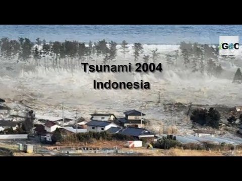 The energy from the 2004 tsunami generated in the Indian Ocean was immense. It is the most devastating tsunami ever recorded with around 300,000 people estimated to have died. Tsunami warning systems have since been put in place to avoid such loss of life in the future.