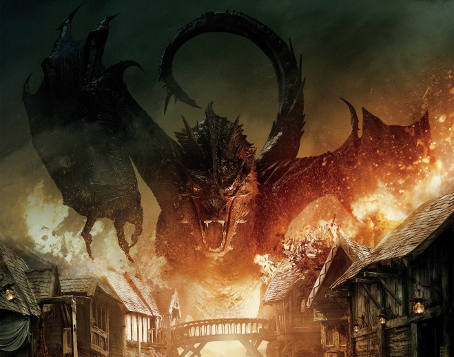 Dragons are often depicted as evil and destructive in the west like Smaug in The Hobbit. Source: lotr.wikia.com