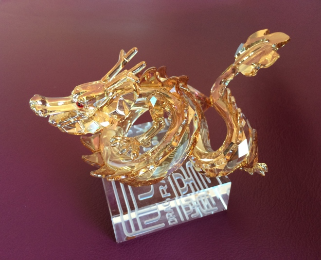 Swarovski created this limited edition piece, only available in China, for the Year of the Dragon in 2012.