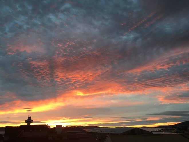 Sunrise this morning in Hobart. All I could say was wow! So awe-inspiring and an energetic start to the day.