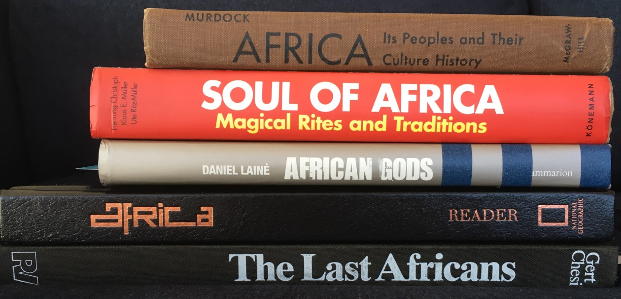 Some of the books on Africa I searched for more information on the Dagara. I also have several books on individual countries and regions. Some's are the only two directly relevant to this post. A lot of other interesting material was unearthed on other African tribes during my search though. That will have to wait for another time.